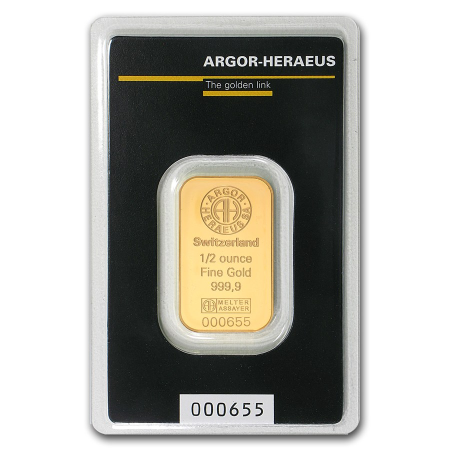 Argor-Heraeus 1oz Gold Bullion Bar