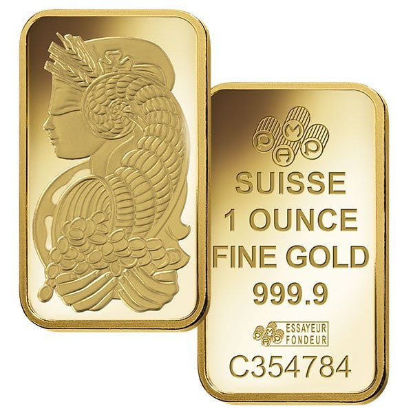 1oz gold bar, PAMP Suisse